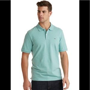 Vineyard Vines pique heathered  polo